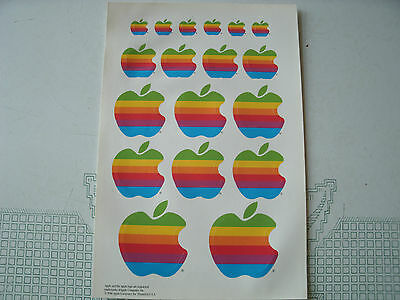 Apple Computer Stickers 1986 Page/sheet, 18 Unused/ Original