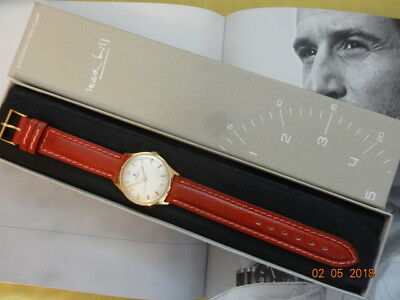1965 JUNGHANS Max Bill Style 33mm 687 17J ORGNL BOX BAND Presented MAN SERVICED