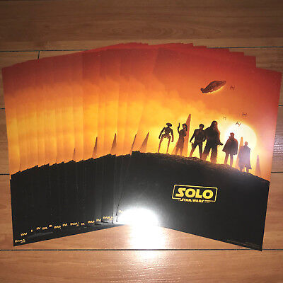 """Solo A Star Wars Story Amc Imax Exclusive Poster 9.5X13"""" New Han Solo"""
