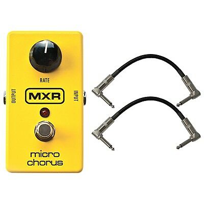 """MXR M148 Micro Chorus Guitar Effects Pedal w/2 FREE 6"""" Patch Cables"""