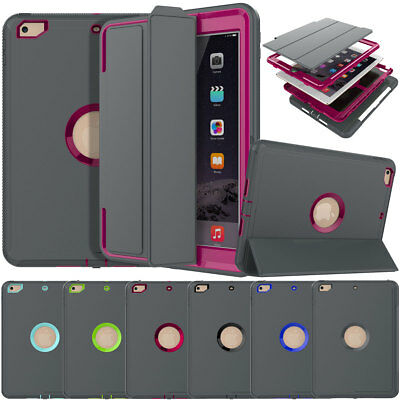 Hybrid 360 Hard Case For iPad 9.7 6th / 5th Gen with Built in Screen Protector