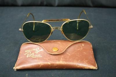 d502e166d8 Vintage Bausch   Lomb Ray Ban Anti Glare Aviator Sunglasses Sun Glasses  Rayban