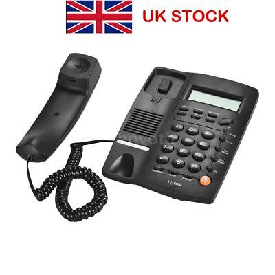 Black Phone LCD Display Home Corded Phone Telephone Business Home Office Desktop