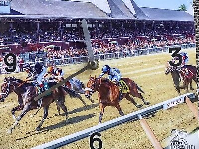 Saratoga Racetrack 10 x 10 Clock from 2017 - new in box
