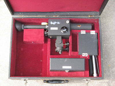 Armour Research Foundation Optical Pyrometer with Tripod and Lenses USN