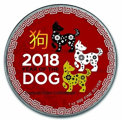 2018 Niue Year of the Dog - 1 Ounce Pure Silver .999 Coin!