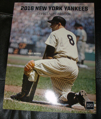 New York Yankees 2016 Official Yearbook Yogi Berra On The Cover Brand New