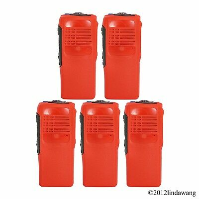 5X Red Housing Cover Case Refurbishment Kit for Motorola GP340 Portable Radio
