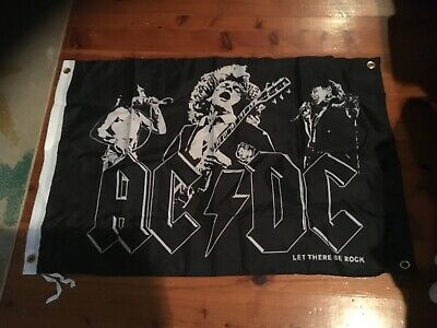 AC DC poster banner concert album cover aus rock Bonn Scott man cave sign flag
