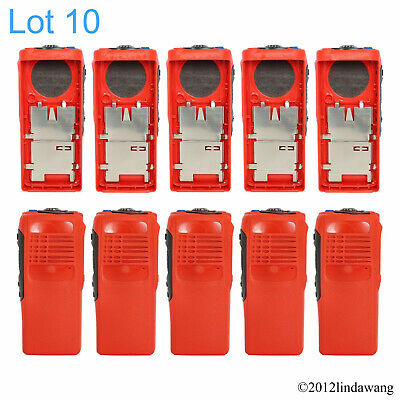 Lot 10 Red Housing Cover Case Replacement Kit for Motorola GP340 Portable Radio