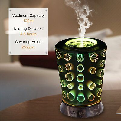 3D Circle Aromatherapy Essential Oil Aroma Diffuser Ultrasonic Humidifier Mist