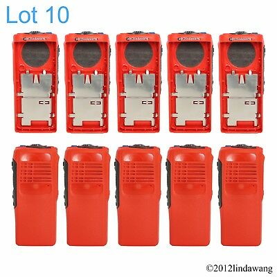 10X Red Housing Cover Case Replacement Refurbish Kit for Motorola GP340 Radio