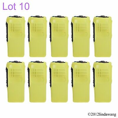 Lot 10 Yellow Housing Cover Case Replacement for Motorola GP340 Two Way Radio