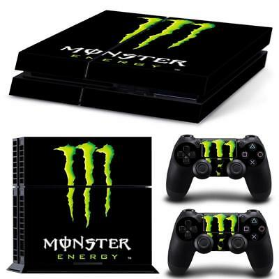"""PS4 playstation console skin set  """"MOSTER ENERGY MOTO GP  """"  Aussie seller BIKES"""