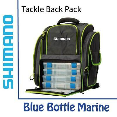 NEW Shimano Backpack And Tackle Boxes - Black/Green from Blue Bottle Marine