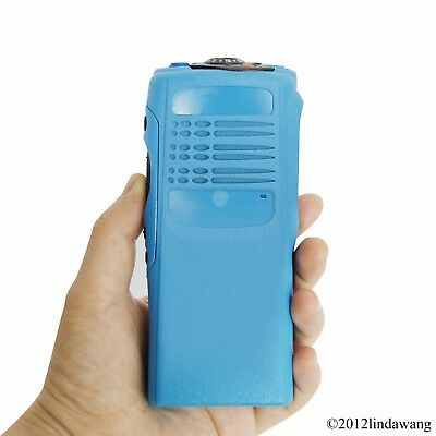 Blue Housing Cover Front Case Refurbishment for Motorola GP340 Portable Radio