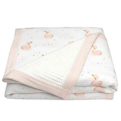 Living Textiles Cot Waffle Blanket (Swan Princess) Free Shipping!