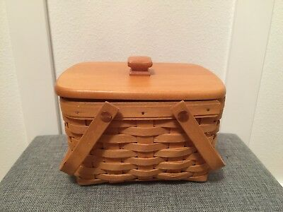 Longaberger 1999 Good Ol' Summertime Seashell Basket with Lid and Protector