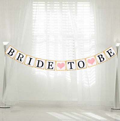 Bride To Be Bunting Banner Wedding Party Garland Hen Night Decoration Vintage