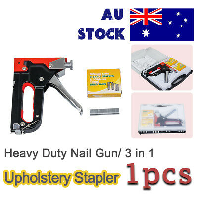 HEAVY DUTY STAPLE GUN TACKER staple gun kit+ 900 Nails/ free shipping