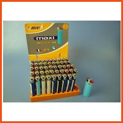50 Large BIC LIGHTERS with Child Guard | Disposable Tobacco Cigarette Lighter