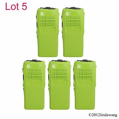 5X Green Housing Cover Front Case Refurbish for Motorola GP340 Portable Radio