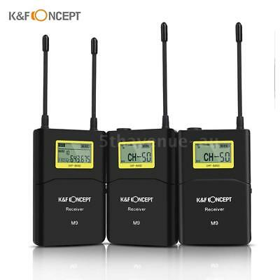 K&F Concept M9 100-channel UHF Wireless Microphone System with 2 C6W9