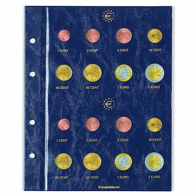 Coin Album Pages for 3 Euro Coin Sets Leuchtturm 338425 Numis NH24 Album Sheets