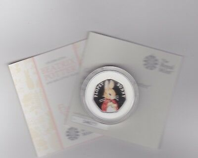 Boxed 2018 Silver Proof 50 Pence Coin Flopsy Bunny With Certificate