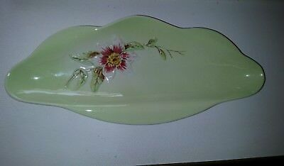 Gorgeous Royal Winton Footed Dish with raised Passion Flower Print