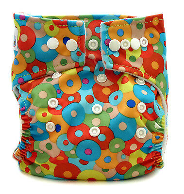 Abstract Print Cloth Nappy (MCN) with Insert - Reuseable