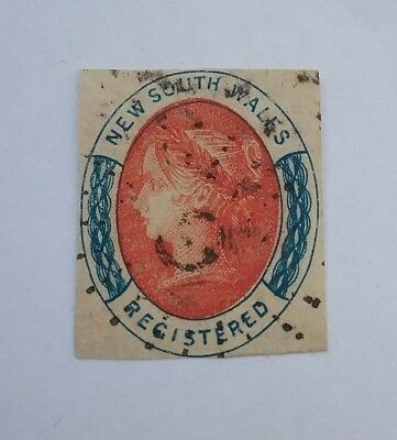 New South Wales 1856 Registered Imperf used