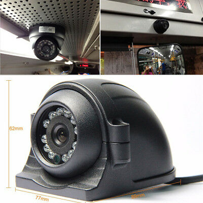 1PCS 4 Pin HD 12LED IR Car Side View Camera 120° viewing angle For Truck Bus