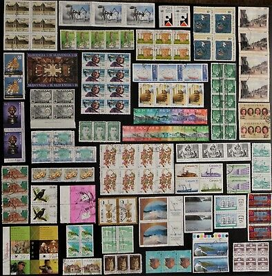 WORLD STAMPS joined Pairs Strips Blocks, HUGE bulk lot No.5, worldwide mixture