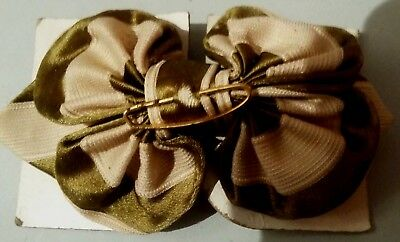 bow tie Silk Period 1900 Antique French Woman's bow tie Silk
