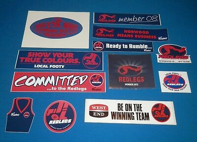 Norwood Football Club SANFL Stickers x 12 Including Vintage 1970's/80's