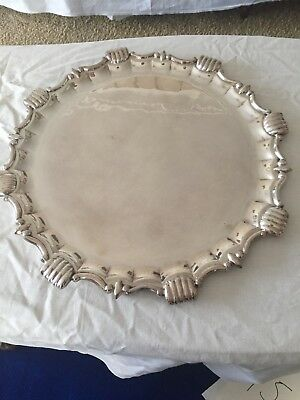 Silver Ornate Serving Platter 40cm
