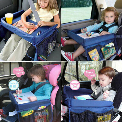 Waterproof Baby Safety Travel Tray Drawing Board Table Kids Car Seat Snack