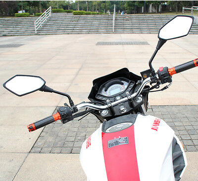 Motorcycle Rearview Mirror For ATV Quad Scooter Moped Pit Dirt Motor Bike