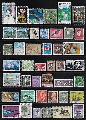 WORLD STAMPS mixed collection, Lot No.209, good mixture, all different