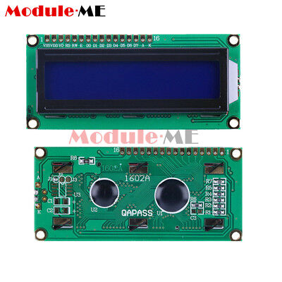 1/2/5/10X 1602 16x2 Character LCD Display Module HD44780 Controller Blue Arduino