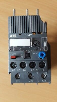 ABB TF42 - 5.7 Thermal Overload Relay  4.2 A to 5.7A  Aux Contacts 1N/O + 1 N/C