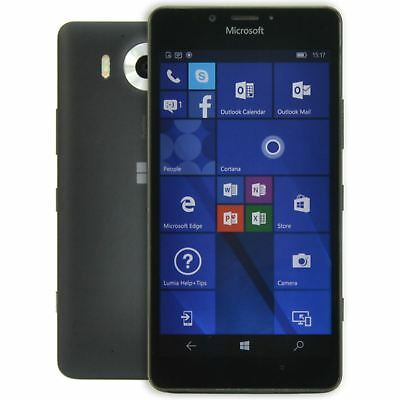 "Microsoft Lumia 950 Unlocked 4G 32GB 5.2"" 20MP Windows 10 Smartphone - Black"