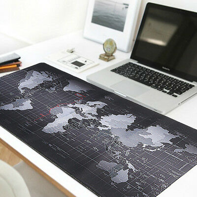 Large Size Non-Slip World Map Gaming Mouse Pad Mat For Laptop Computer Keyboard