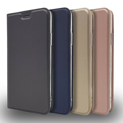 DT Classic Magnetic Flip Leather Card Wallet Stand Case Cover For Lot New Phones