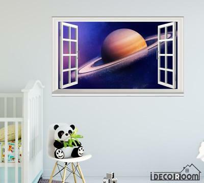 Saturn Planets Galaxy Huawei Honor V8 Stock Space windows wall sticker