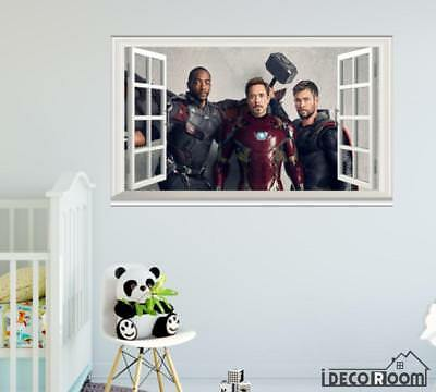 Avengers Infinity War Falcon Iron Man Thor  windows wall sticker