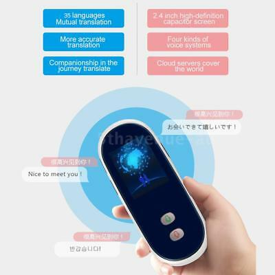Portable Smart Voice Translator Device 35 Languages Two-way Real Time Travel