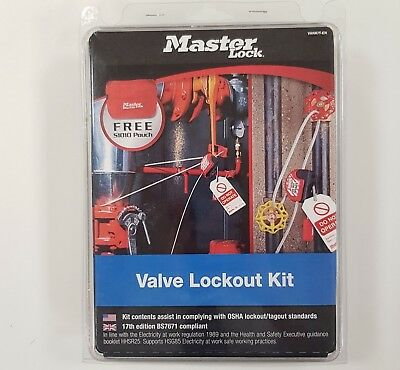Master Lock VanKit Basic Valve Lockout Kit - Blister Pack  VANKIT-EN S806 S31RED