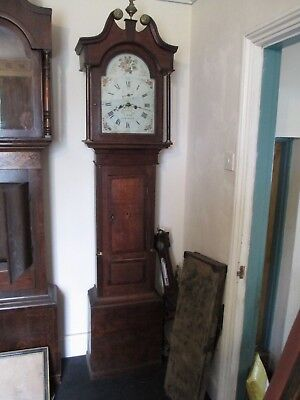 Bright Of Saxmundham Old 8 Day Grandfather Clock Working Order